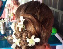 Girl's event hair