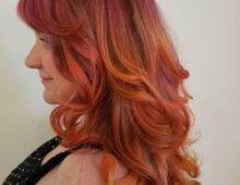 Sunset inspired color and cut